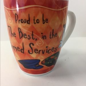 "Fine Porcelain Coffee Tea Mug ""Armed Services"""
